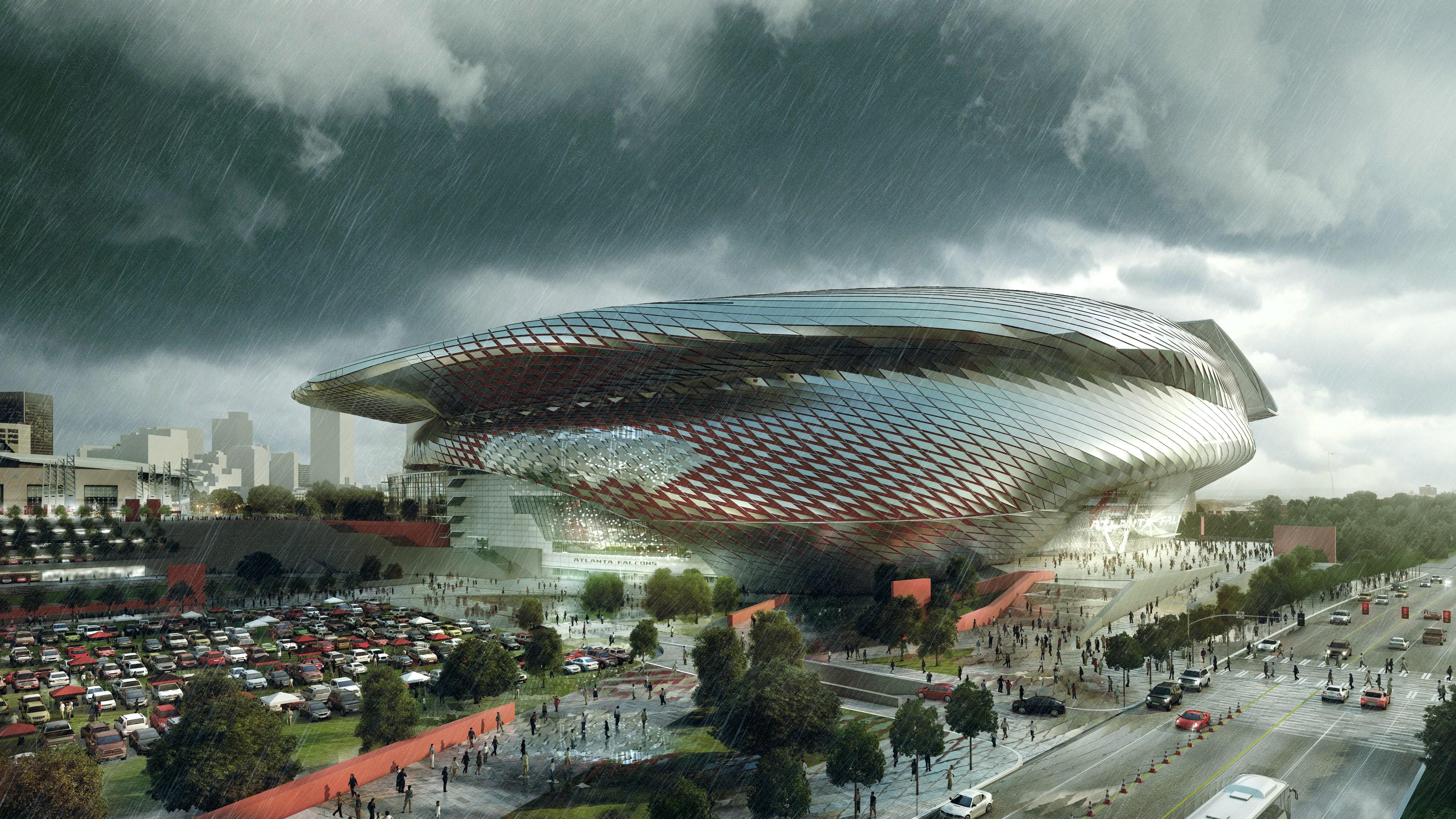 Atlanta Falcon Stadium Kilograph Creative